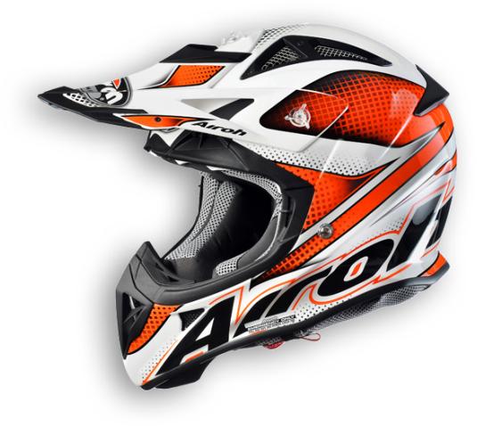 Airoh Aviator Linear Off-Road helmet orange