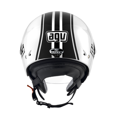 AGV Bali II Multi B3 Open Face Helmet - Col. White/Black