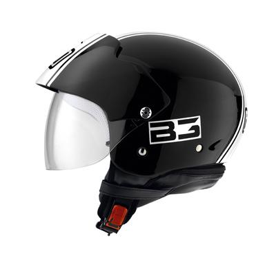 AGV Bali II Multi B3 Open Face Helmet - Col. Black/White
