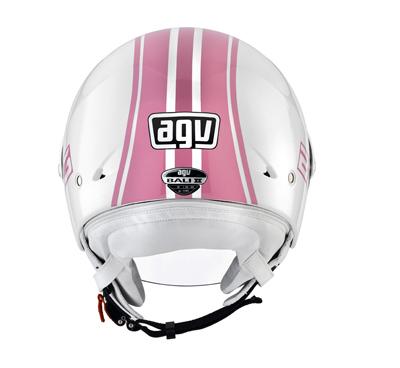 Casco moto Agv Bali II Multi B3 bianco-rosa
