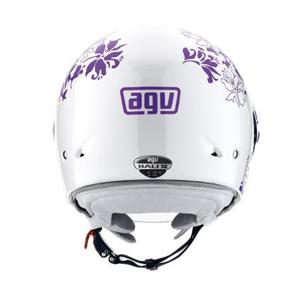 Casco moto Agv Bali II Multi Leaf bianco-viola