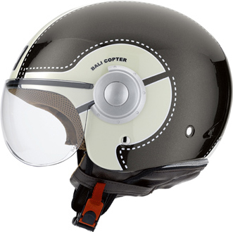 Casco moto Agv Bali Copter Multi Chopper gunmetal-crema