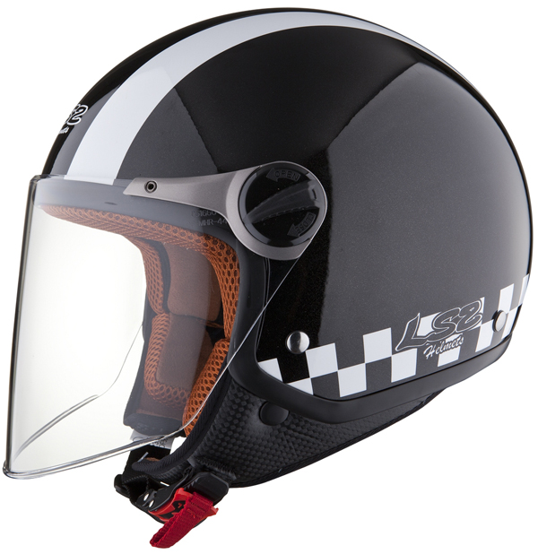 LS2 OF560 Bat open face helmet Black