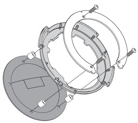 Flangia metallica BF05K per Tanklock per Yamaha