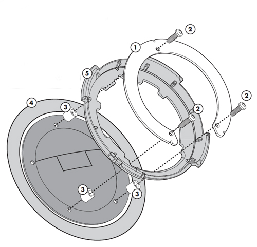 Flangia metallica Kappa per borsa serbatoio TankLock