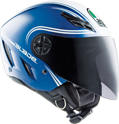 Agv Blade Multi Start open face helmet blue-white