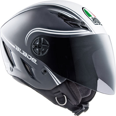 Agv Blade Multi Start open face helmet grey-white
