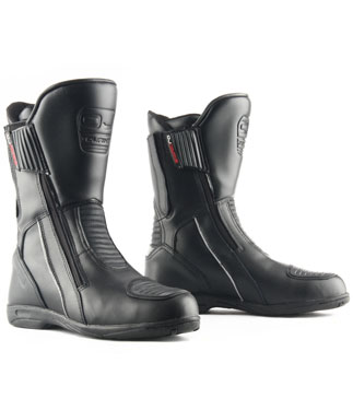 Oj Long Way motorcycle boots black