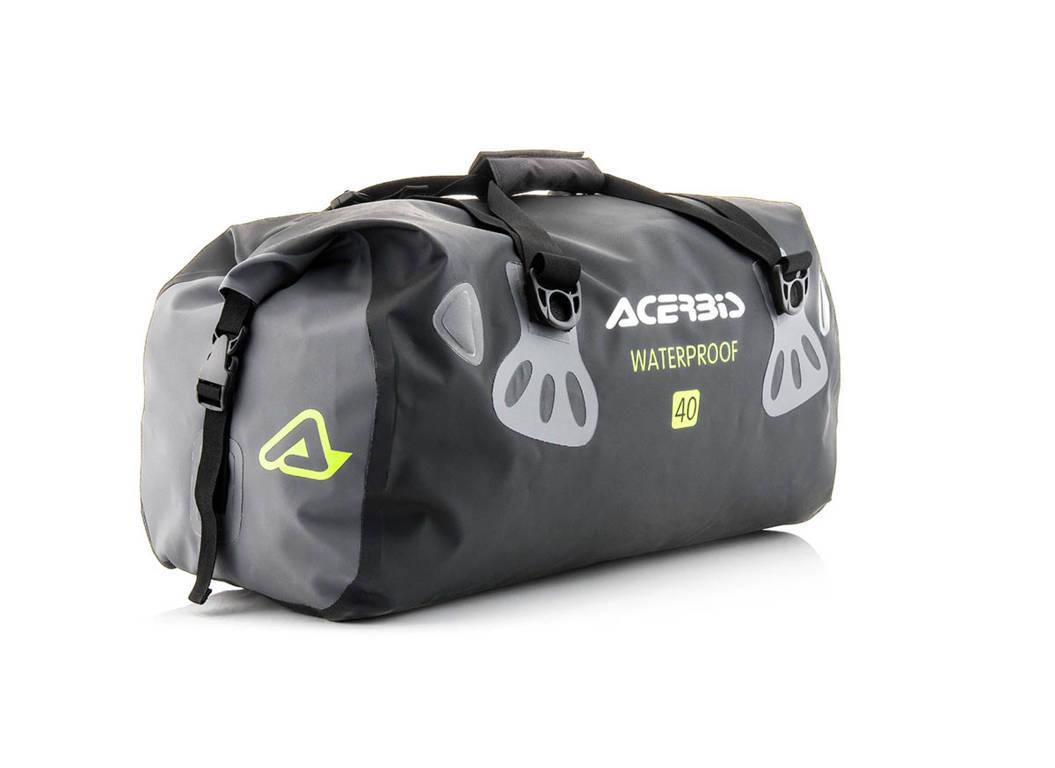 Borsa da sella impermeabile Acerbis No Water Horizontal Bag 40 litri Nero Giallo