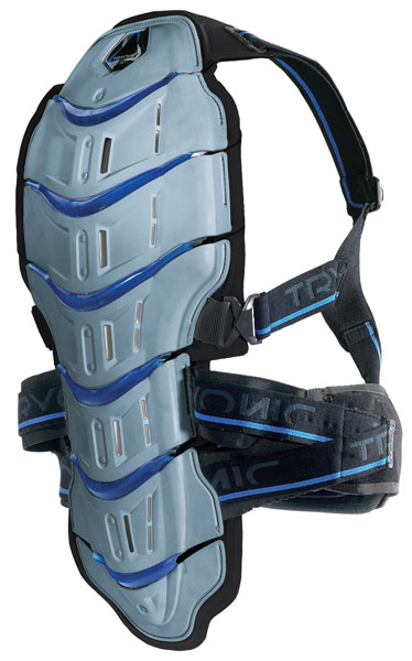 TRYONIC Feel 3.7 Winter Sports Back Protector - Col. Grey/Blue