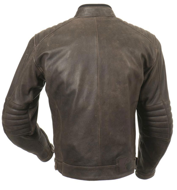 Approved leather motorcycle jacket Bering Branigan Brown