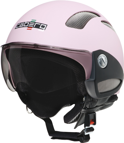 Casco moto Caberg Breeze rosa opaco