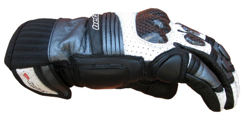 Befast Octan Evo summer leather gloves Black White Gray