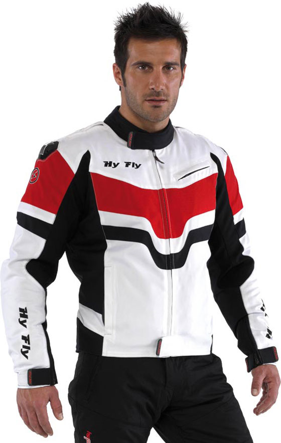 Hy Fly Burnout Tex 2 layers jacket White Red
