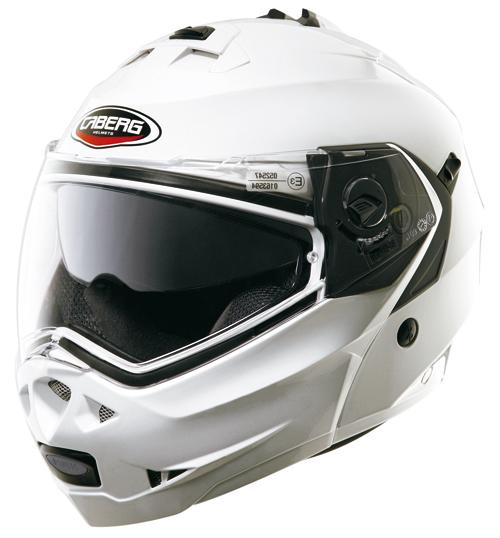 Caberg DUKE flip-off helmet Metal-White