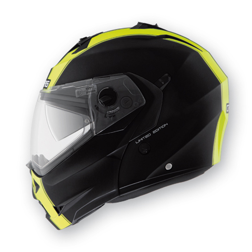 Modular Helmet Caberg Duke Legend Matte Black Yellow fluo
