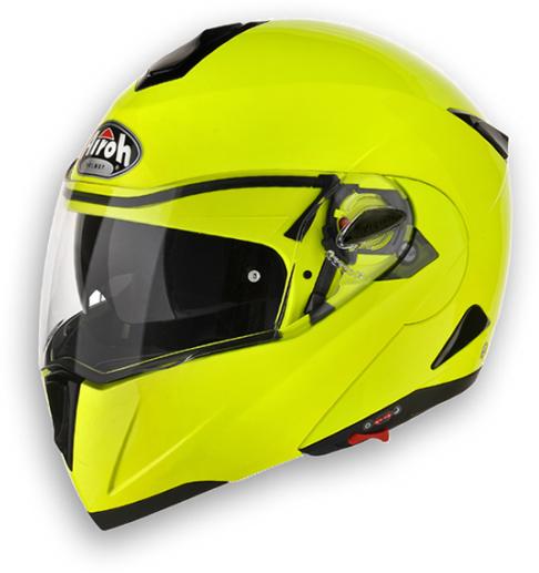 Casco moto modulare Airoh C-100 Color High Visibility omol. P-J