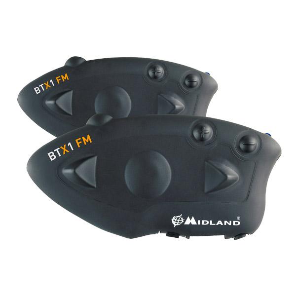 Midland BTX1 FM intercom twin pack