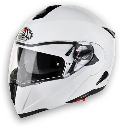 Casco moto modulare Airoh C-100 Color bianco lucido omol. P-J