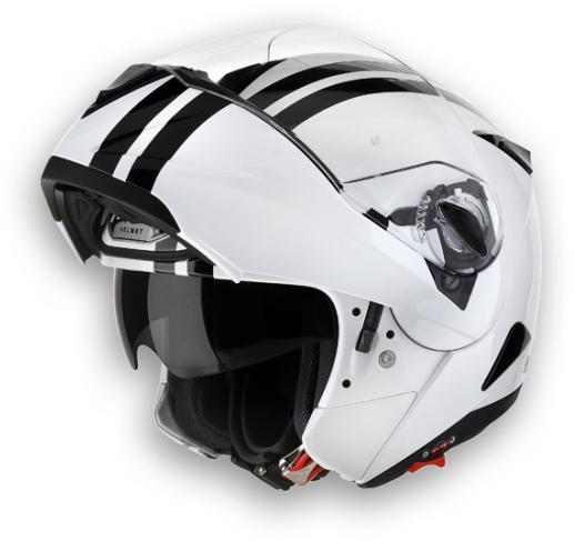 Casco moto modulare Airoh C-100 Flash bianco lucido omol. P-J