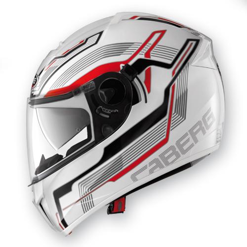 Full face helmet Caberg Ego Streamline White Red