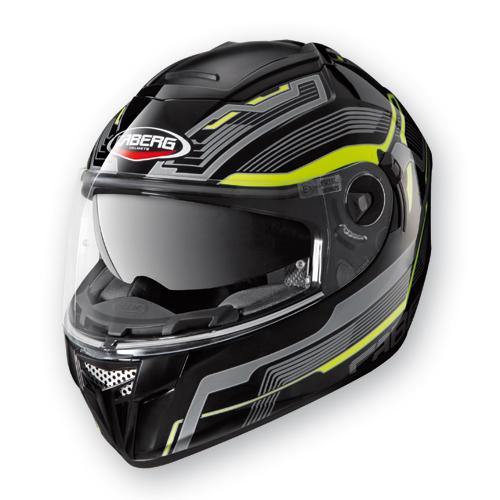 Full Face Helmet Caberg Ego Streamline Black Yellow Neon
