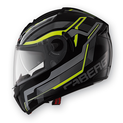 Full Face Helmet Caberg Ego Streamline Black Yellow Neon