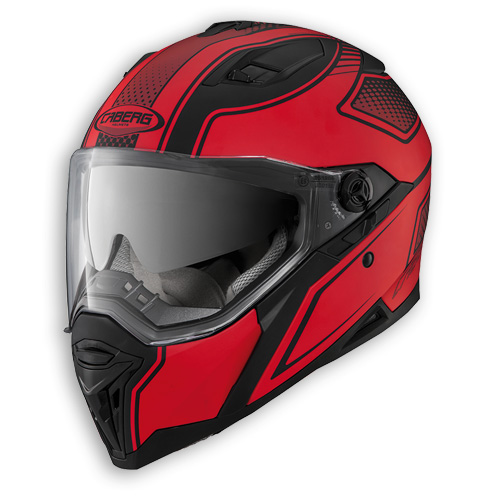 Face helmet Caberg Stunt Blade matt black red