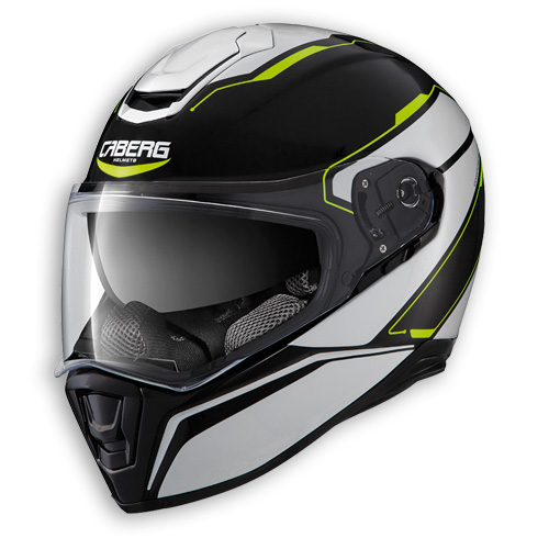 Face helmet Caberg Drift Tour black white yellow fluo