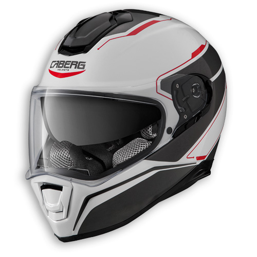 Face helmet Caberg Drift Tour white anthracite red