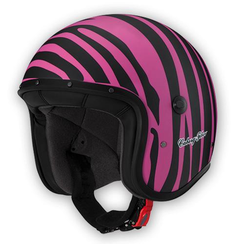 Jet Helmet Caberg Freeride Marty matte black pink