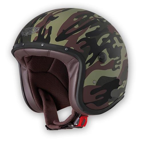 Jet Helmet Caberg Freeride Commander green matte black
