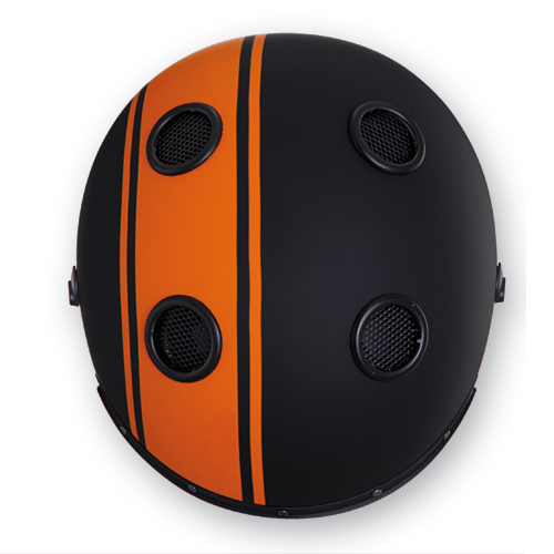 Jet Helmet Caberg Doom Legend Matte Black Orange