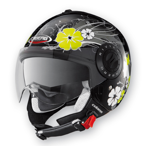 Caberg Riviera V2+ Diva jet helmet Black White
