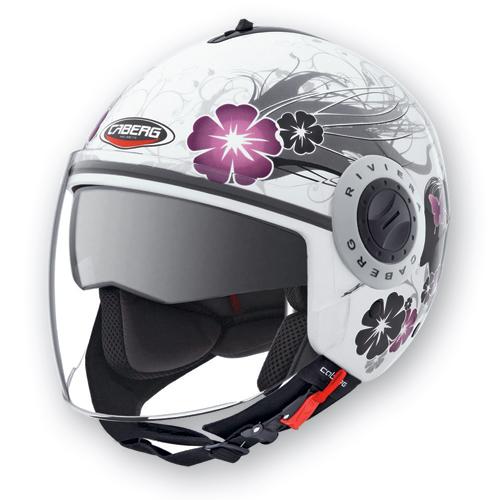 Caberg Riviera V2+ Diva jet helmet White Silver