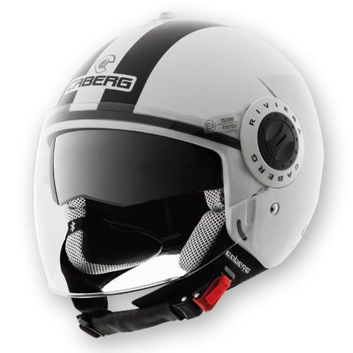 Caberg Riviera V2+ Legend jet helmet White Black