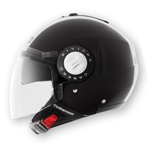 Caberg Riviera V2+ Legend jet helmet Black White