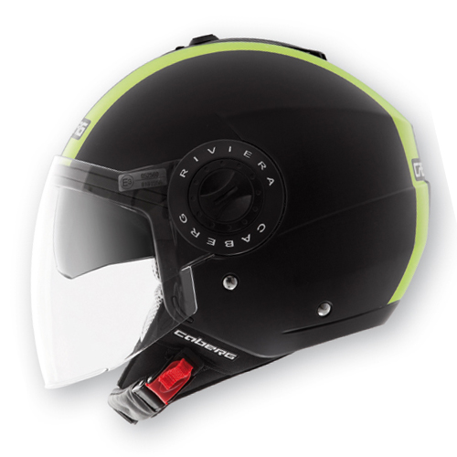 Caberg Riviera V2+ Legend jet helmet Hi Vizion