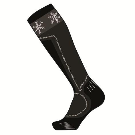 Wool socks woman Mico Performance Medium Black Silver
