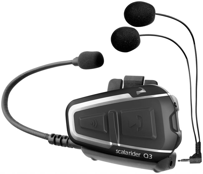 Cardo Scala Rider Q3 Interphone for one helmet