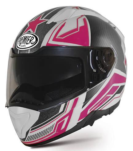 Casco integrale Premier Evoque ST 13 nero grigio rosa