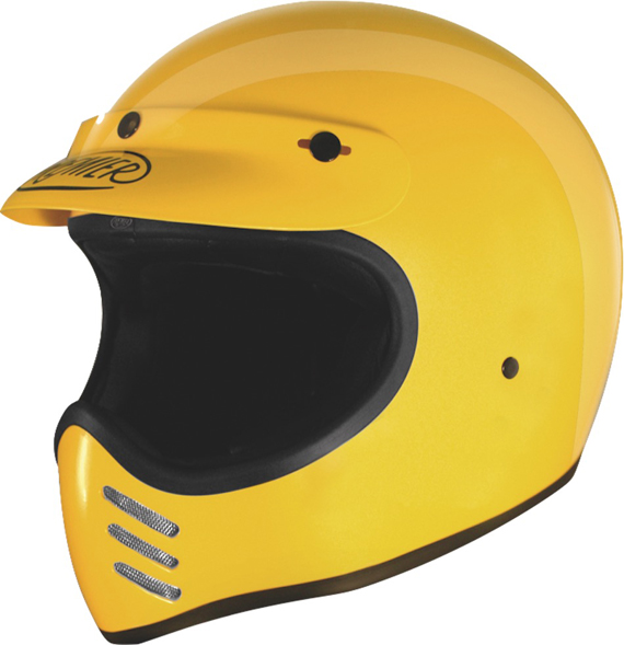 Casco integrale Premier Trophy MX giallo