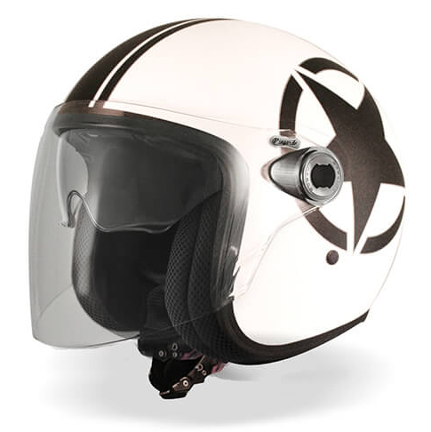 Casco jet Premier Vangarde Star 8 BM bianco nero