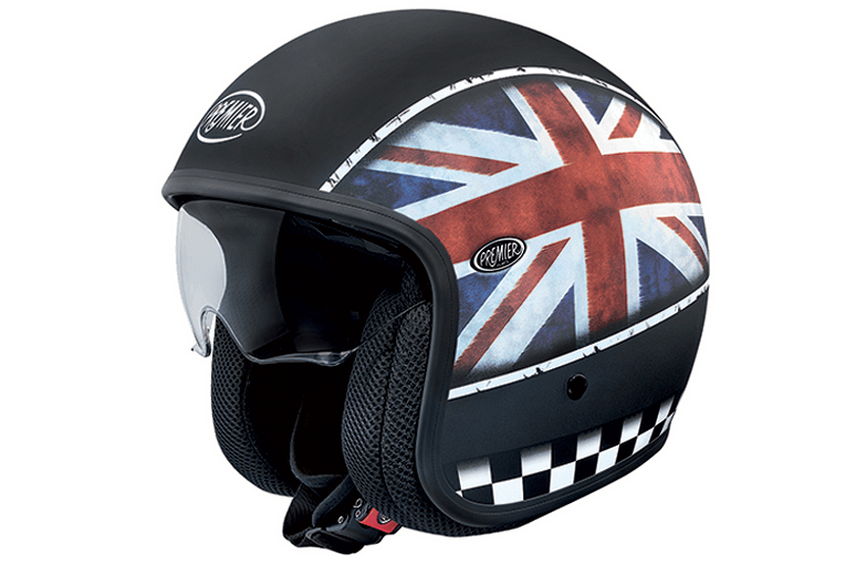 Casco jet Premier Vintage Flag UK