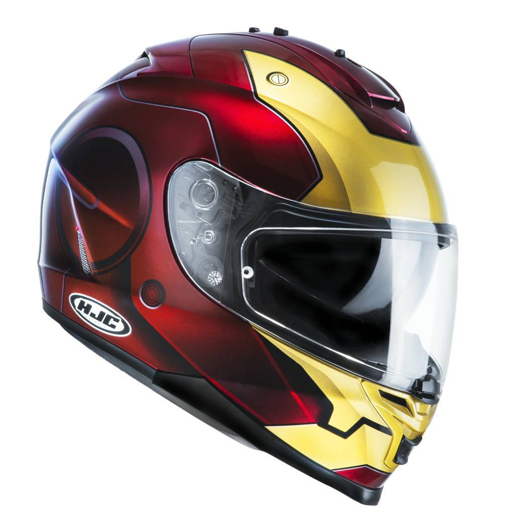 Casco integrale HJC IS17 Marvel IronMan MC1 Rosso Oro