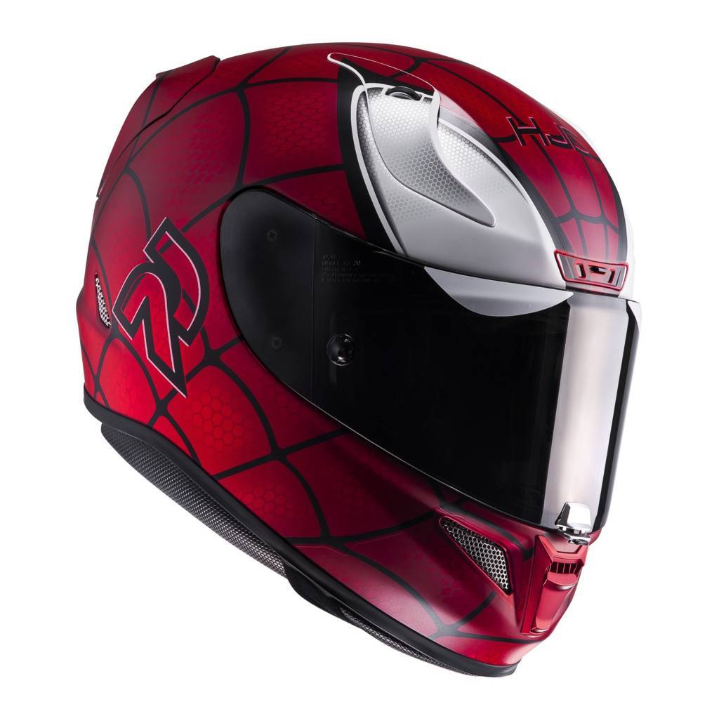 Casco integrale HJC RPHA 11 Marvel Spiderman MC1SF Rosso Nero Bianco