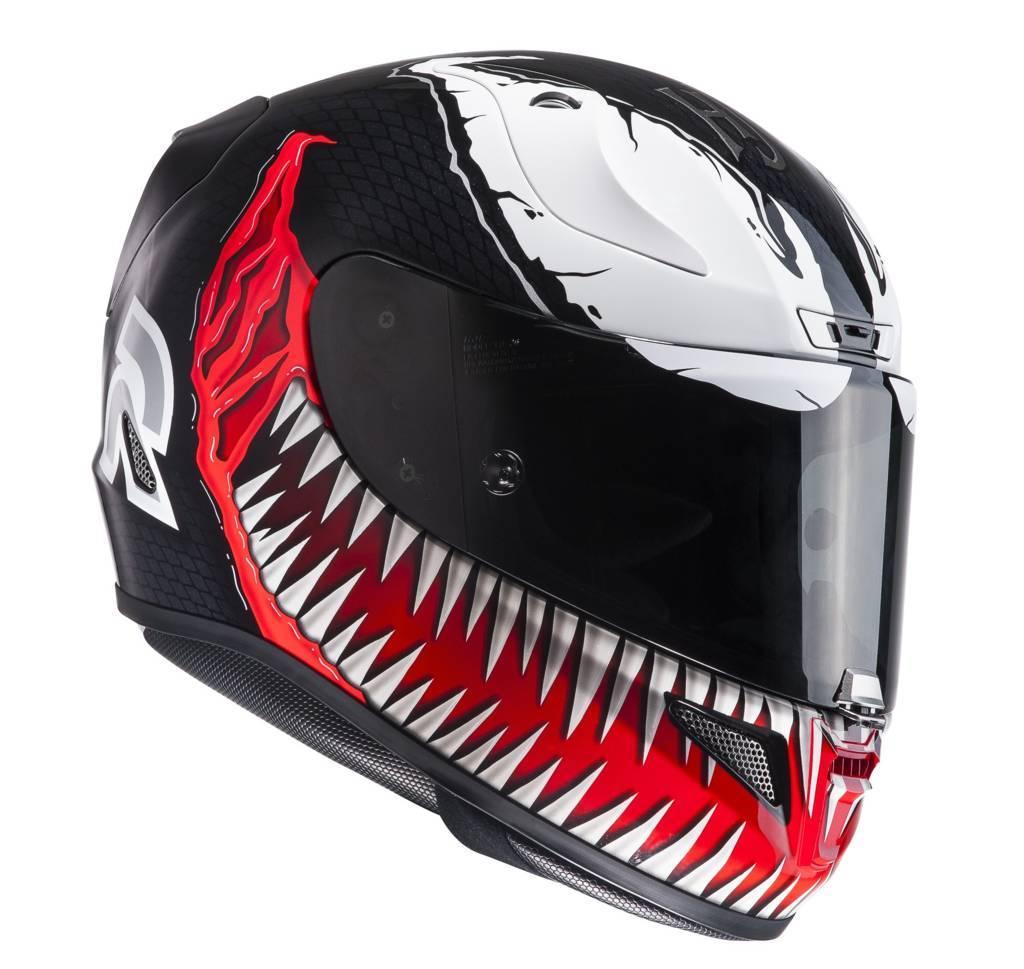 Casco integrale HJC RPHA 11 Marvel Venom MC1 Nero Rosso Bianco