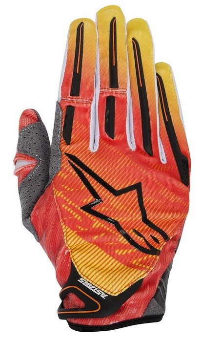 Alpinestars Charger 2014 offroad gloves orange red yellow