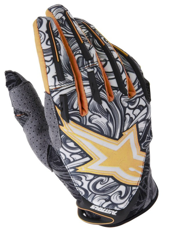 Alpinestars Charger Youth gloves orange black white