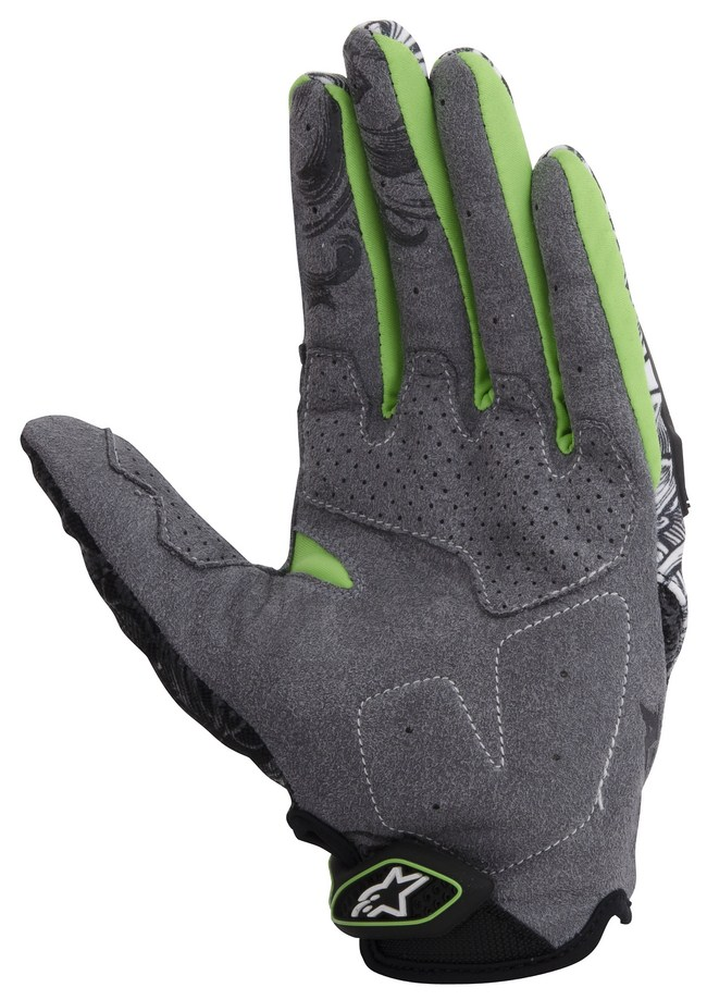 Guanti cross Alpinestars Charger verde nero bianco